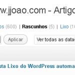 Wordpress - pasta lixo