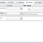 Como podemos desactivar os plugins - Cpanel phpMyAdmin - 3