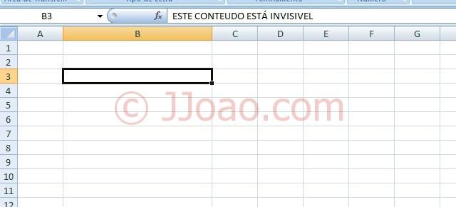 Ocultar Conteudo Celula Excel - Resultado