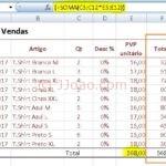 Criar formula de matriz - apurar valor total de vendas