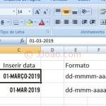 Data em maiusculas no Excel - Tipo de Letra