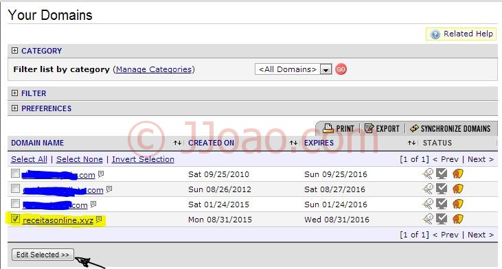 Registar dominios a 1€ - Lista de dominios