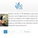 Wordpress Bootstrap Paginacao - menu com numeros de páginas