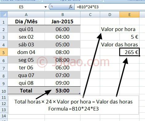 Somar Horas no Excel - 5