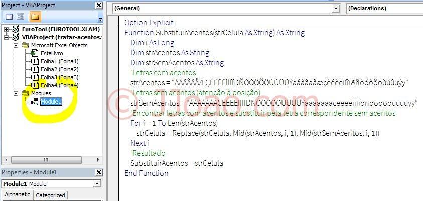 Substituir Acentos no Excel - VBA
