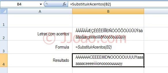 Substituir Acentos no Excel